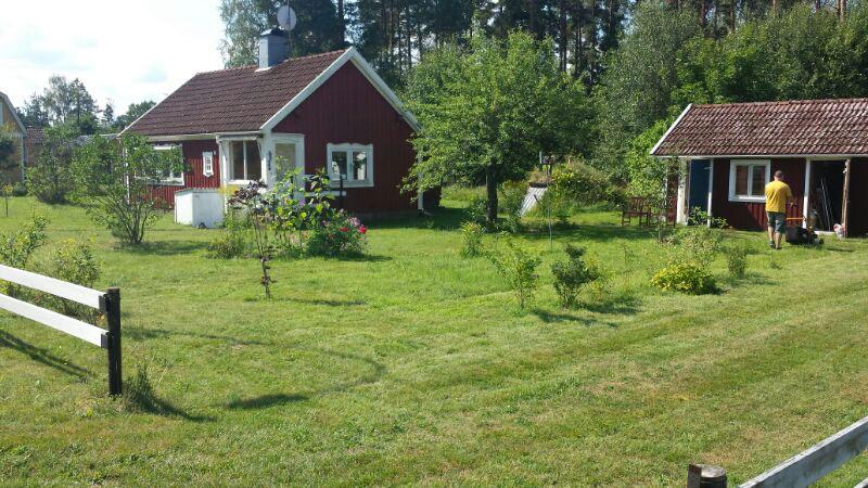 Schweden Rasen mähen