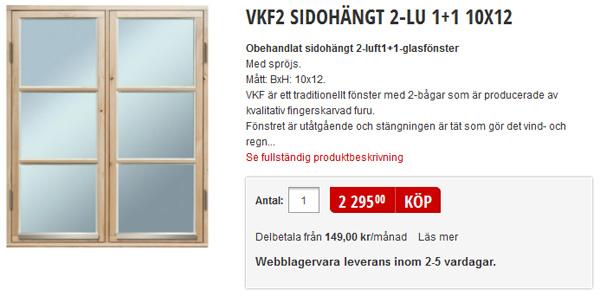 Schwedenfenster von Baushaus.se